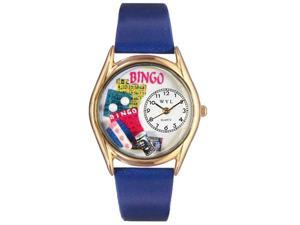 Bingo Royal Blue Leather And Goldtone Watch #C0430002