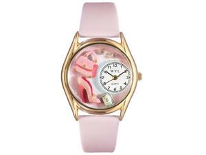Shopper Mom Pink Leather And Goldtone Watch #C1010007