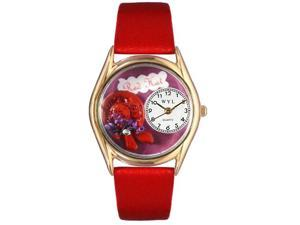 Red Hat Red Leather And Goldtone Watch #C0460001