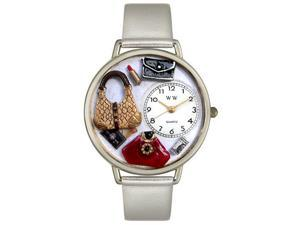 Purse Lover Silver Leather And Silvertone Watch #U1010021
