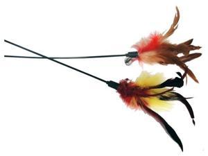 "Imperial Cat 01155 25"" L Feather Wand - Pet Toy"