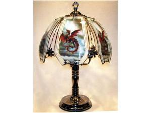 OK LIGHITNG OK-632-US12-SP3 24 in. Flying Dragon Chrome Touch Lamp