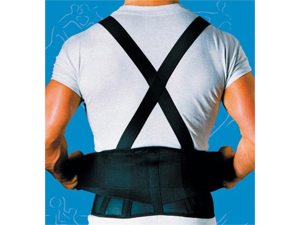 Complete Medical SA01092X 9 Back Belts with Suspenders Black XX-Large Sportaid