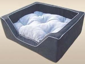 ODonnell Industries 21487 Luxury X -Large Square Dog Bed - Black-Herringbone