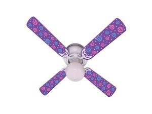 Ceiling Fan Designers 42FAN-IMA-KPPP Kids Purple Party Pops Ceiling Fan 42 In.