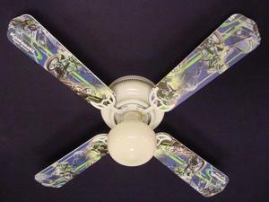 Ceiling Fan Designers 42FAN-CARS-MKM Motocross Kawasaki Ceiling Fan 42 in.