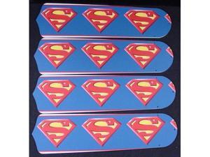 Ceiling Fan Designers 42SET-KIDS-SMS Superman Marvel Superhero 42 in. Ceiling Fan Blades Only