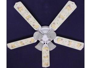 Ceiling Fan Designers 52FAN-DIS-CWPP Classic Winnie Pooh Green Ceiling Fan 52 in.