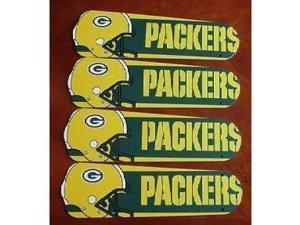 Ceiling Fan Designers 42SET-NFL-GRB NFL Green Bay Packers Football 42 In. Ceiling Fan Blades OnLY