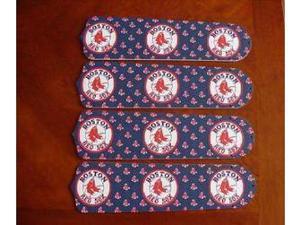 Ceiling Fan Designers 42SET-MLB-BOS MLB Boston Red Sox Baseball 42 In. Ceiling Fan Blades Only