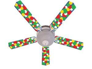 Ceiling Fan Designers 52FAN-IMA-KBBD Kids Light Bright Dots Ceiling Fan 52 In.