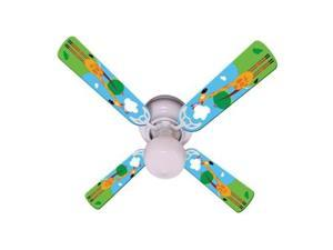 Ceiling Fan Designers 42FAN-IMA-KHTG Kids Hangin Tall Giraffe Ceiling Fan 42 In.