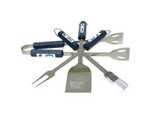 Bsi Products 61014 4 Pc Bbq Set - Kansas Jayhawks
