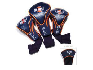Team Golf 21394 Illinois Fighting Illini 3 Pack Contour Fit Headcover