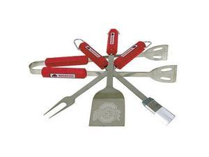 Bsi Products 61055 4 Pc Bbq Set - Ohio State Buckeyes