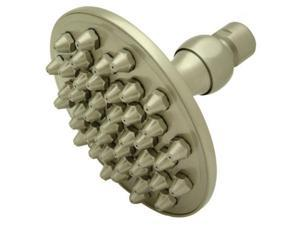 Kingston Brass K134A8 4-.75 Inch Diameter Brass Shower Head - Satin Nickel