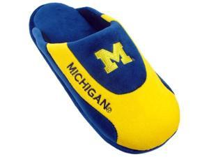 Comfy Feet MIC07XL Michigan Wolverines Low Pro Stripe Slippers - X-Large