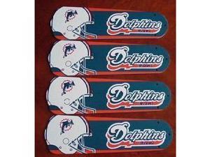 Ceiling Fan Designers 42SET-NFL-MIA NFL Miami Dolphins Football 42 In. Ceiling Fan Blades Only