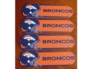 Ceiling Fan Designers 42SET-NFL-DEN NFL Denver Broncos Football 42 In. Ceiling Fan Blades Only