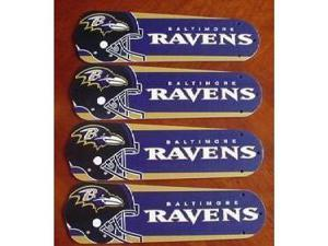 Ceiling Fan Designers 42SET-NFL-BAL NFL Baltimore Ravens Football 42 In. Ceiling Fan Blades OnlY