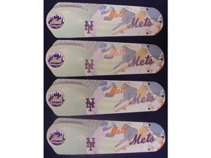 Ceiling Fan Designers 42SET-MLB-NYM MLB York Mets Baseball 42 In. Ceiling Fan Blades Only