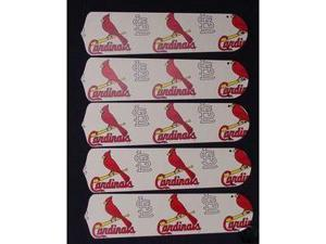 Ceiling Fan Designers 52SET-MLB-STL MLB St. Louis Cardinals Baseball 52 In. Ceiling Fan Blades ONLY