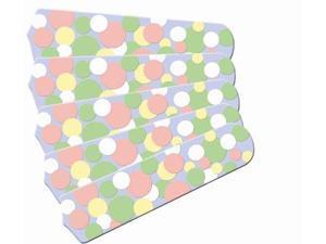 Ceiling Fan Designers 52SET-IMA-KPBD Kids Soft Pastel Bubble Dots 52 In. Ceiling Fan Blades OnlY