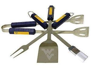 Bsi Products 61012 4 Pc Bbq Set - West Virginia Mountaineers