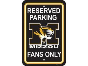 Fremont Die 50244 12'' X 18'' Plastic Parking Sign  - Missouri Tigers