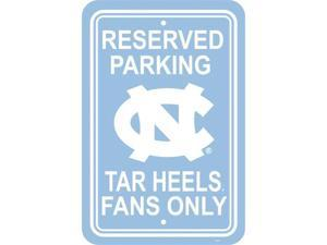 Fremont Die 50249 12'' X 18'' Plastic Parking Sign  - North Carolina Tar Heels