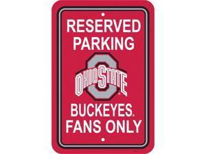 Fremont Die 50251 12'' X 18'' Plastic Parking Sign  - Ohio State Buckeyes