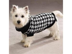 Pet Pals ZM4052 08 17 ESC Oxford Houndstooth Sweater XXsm Black-White