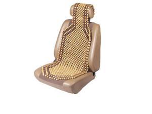 Custom Accessories 17360 Wood Beaded Comfort Seat Cushion - Tan