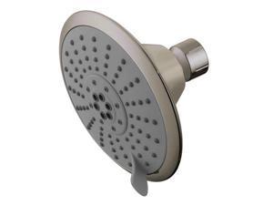 Kingston Brass KX258 Kingston Brass Watersense KX258 5 Diameter 5 Function Spray Pattern Shower Head, Satin Nickel