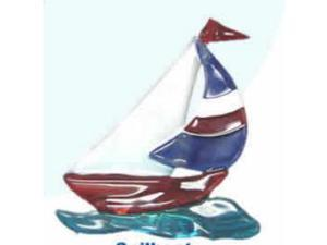 Regal Elite 7-475-07 Artglass Night Light - Sailboat - Red-Blue