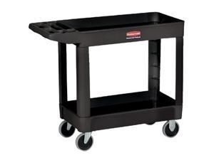 Rubbermaid Commercial 640-4500-88-BLA 500 Lb Capacity Two Shelf Utility Cart Black