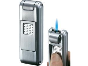 Visol VLR200701 Falcon Silver Satin Torch Flame Lighter