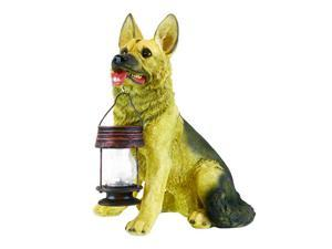 Garden Sun Light B5195 German Shepherd Dog With Lantern Solar Light