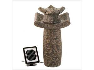 Sunrise Wholesale 12844 Asian Temple Dual Power Solar Water Garden Fountain