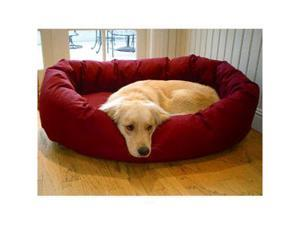 Majestic Pet 788995611240 24 in. Small Bagel Bed- Burgundy