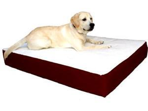 Majestic Pet 788995613442 24x34 Small-Medium Orthopedic Double Pet Bed- Burgundy