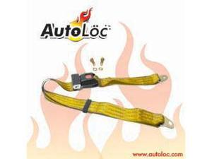 Autoloc SB2PGO 2 Point Goldenrod Lap Seat Belt (1 Belt)