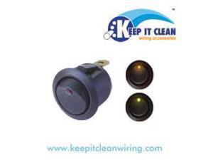 Keep It Clean SW15B Round Led Rocker Switch - Blue 20a/12vdc