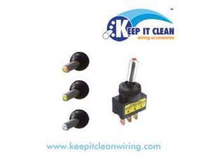 Keep It Clean SW25R Metal Tip Led Toggle Switch - Red 20a/12v