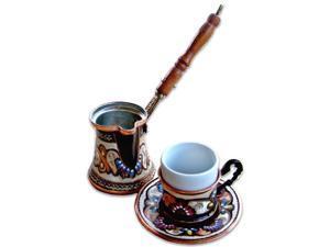 Turkish Coffee World TCW-0011AM Turkish Coffee Set for One