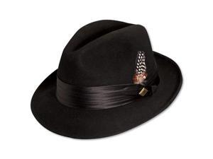 STACY ADAMS SAW566-BLK3 1/SA CRUSH FELT FEDORA- L