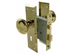 Ultra 2-.25in. Brass Old Time Mortise Interior Door Lock Set  44609
