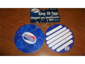 American Tourister AM2341AS Ez Id Tags-Set Of 2- Asst Colr