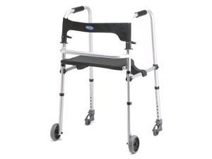 Invacare 6300-ATA WalkLite Walker with 4 Wheel - Black