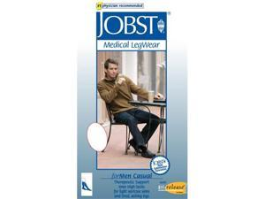 Jobst 113107 for Men 15-20 mmHg Moderate Casual Knee High Support Socks - Size & Color- Black Large Tall